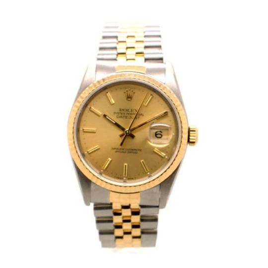 Rolex Rolex DateJust 18K Yellow Gold and Steel Champagne Dial Men's Watch