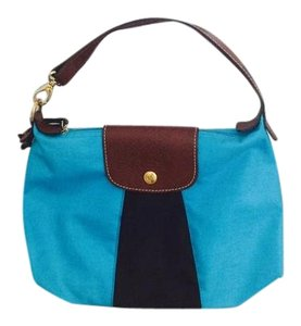 Longchamp Paris Chic Trend French Rare Tote in Turquoise Brown