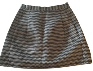 BCBGMAXAZRIA Mini Skirt Gray and black