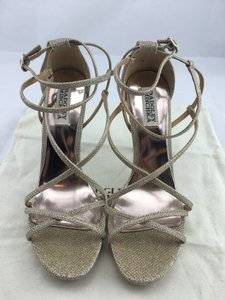 Badgley Mischka Strappy Gold Sandals