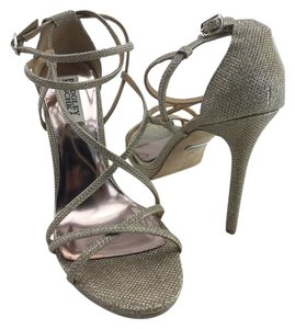 Badgley Mischka Strappy Ankle Strap Wedding Gold Sandals