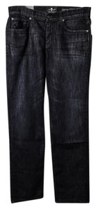 7 For All Mankind Mens Straight Leg Jeans-Dark Rinse