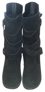 Restricted Mid-calf Black Boots