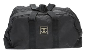 Chanel Duffle Vintage Black Travel Bag