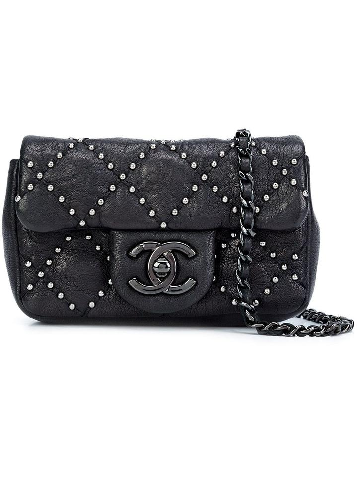 8d9518a80036 Chanel Classic Flap So Studded Mini Dallas Black Leather Cross Body Bag -  Tradesy