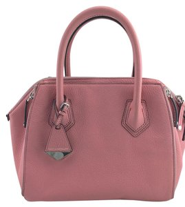 Rebecca Minkoff Perry Minkoff Pebbled Leather Satchel in Pink
