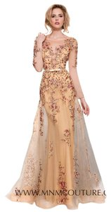 MNM Couture Gold Evening Dress