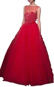 Naeem Khan Tulle Stunning Current Dress