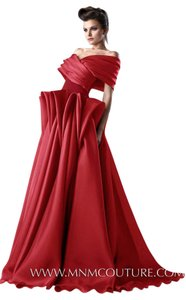 MNM Couture Red Carpet Fluffy Dress