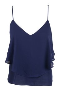 Fun 2 Fun Tank Cami Top Blues