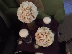 Centerpieces Glass And Ivory