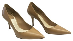 Dior Pointed Toe Leather Beige Nude Pumps