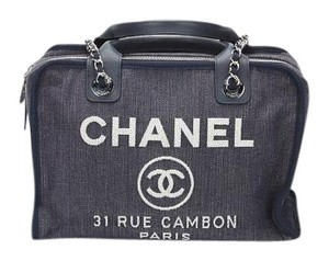 Chanel Denim Deauville Tote in Blue