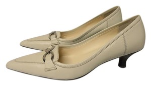 Circa Joan & David & Leather Rubber Sole ivory Pumps