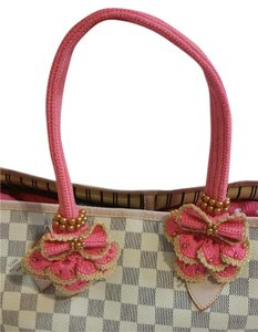 Handmade Handle Covers For Louis Vuitton Neverful PM Pink