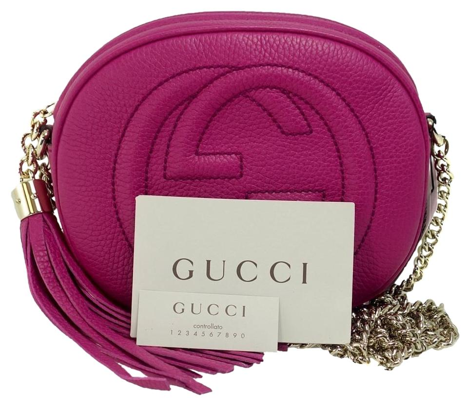 720b52cd51a Gucci Soho New 353965 Disco Fuchsia Leather Cross Body Bag - Tradesy