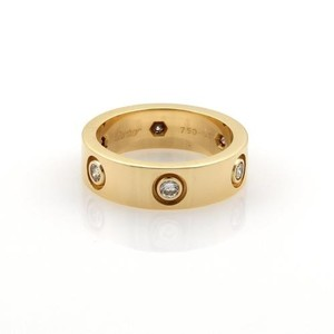 Cartier Cartier Love Diamonds 18k Yellow Gold 5.5mm Band Ring Eu 51-us 5.75