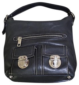 Marc Jacobs Leather Silver Hardware New York Simple Tote in Black