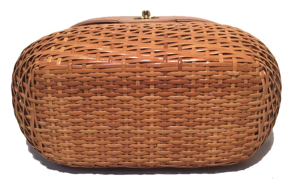 e919d3cacb84 Chanel Basket Basket Rattan Wicker Wicker Shoulder Bag Image 9. 12345678910