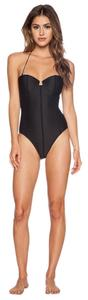 Lovers + Friends Rope Me In Black One-Piece Size Small