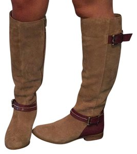 Alex Marie Tan/Brown with Gold Hardware Boots
