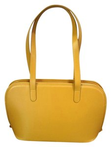 Jack Georges Leather Italian Limited Edition Business Tote in Mustard