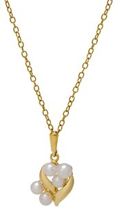 Mikimoto Mikimoto cultured Akoya pearl cluster necklace in 18k yellow gold