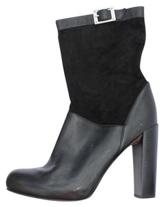 Rachel Zoe Leather Suede Slouch Black Boots