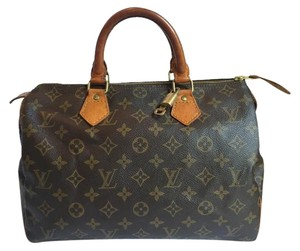 Louis Vuitton Speedy Satchel in Brown