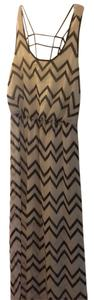 Black and white chevron Maxi Dress by City Triangles