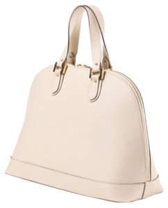Alberta Di Canio Leather Tote in Beige
