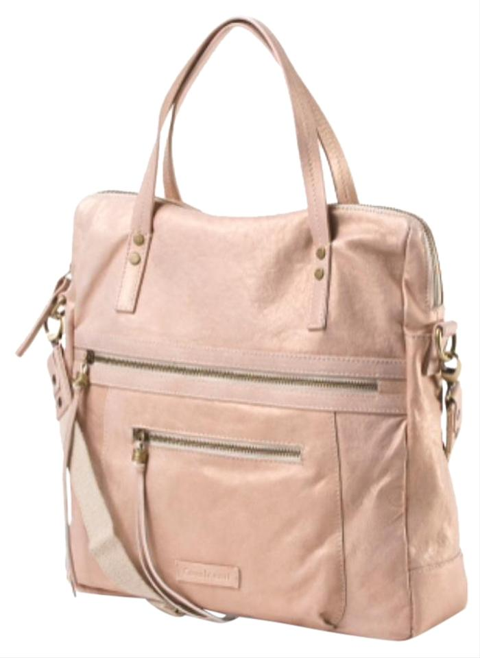 0b59e35f1843 Cavalcanti Top Zip Satchel Made In Italy Bronze Leather Hobo Bag 34% off  retail