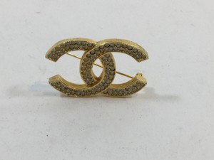 Chanel Chanel Gold Crystal Brooch