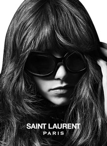 Saint Laurent NWT $480 SL 62 GRACE Wrap Sunglasses Black/Black Mirror Lens 807T4