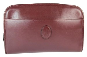 Cartier Chestnut Brown, Leather, Cosmetic Organizer Bag