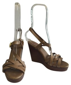 Max Mara Sandals Summer Brown Wedges