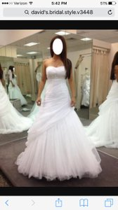 David's Bridal David's Bridal Gown Style V3448 Wedding Dress