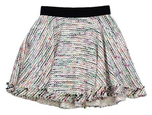 MILLY Multi Color Tweed Circle Skirt