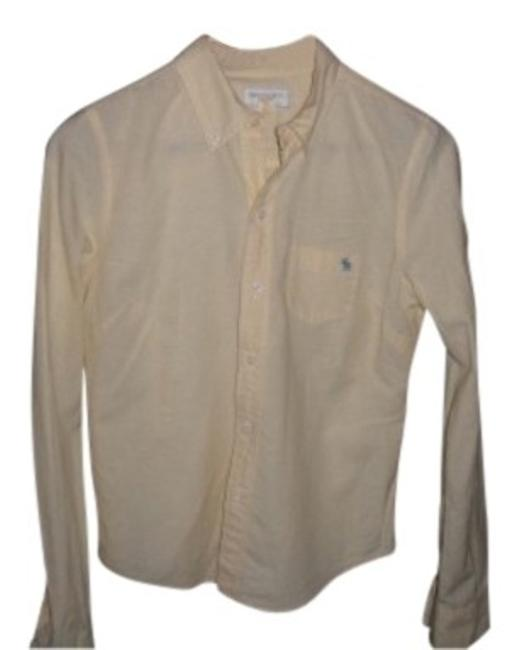 Abercrombie & Fitch Casual Top Pale yellow