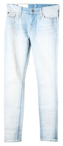7 For All Mankind Skinny Light Wash Regular Fit Skinny Jeans-Light Wash