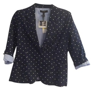 Jessica Simpson Navy blue with white polka dots Blazer