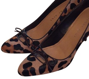 Gianni Bini Leopard Pony Hair Black, Brown, Tan Pumps