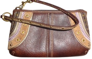Coach Change Wristlet in Brown