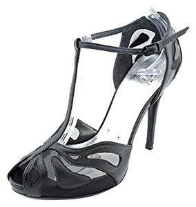 Stuart Weitzman Leather Sandal Open Toe Black Supple Kid Sandals