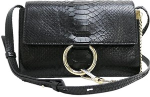 Chloé Chloe Faye Small Faye Faye Faye Python Faye Black Cross Body Bag