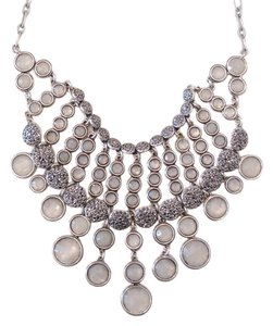Lucky Brand 60% OFF! BRAND NEW Lucky Brand Silver-Tone Crystal Statement Necklace