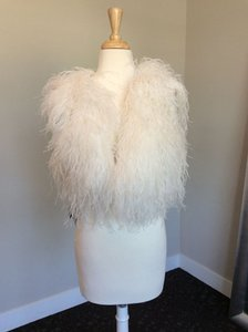 Watters & Watters Bridal Ivory Ostrich Feather Vest