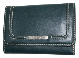 Villager Dark Forest Green Faux Leather TriFold Wallet