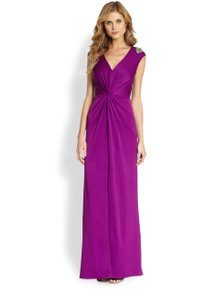 Aidan Mattox Purple 055lgd550 Dress