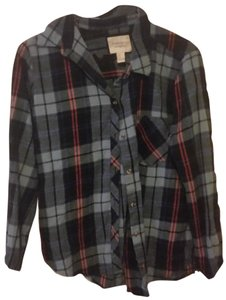 Forever 21 Flanel Fall Button Up Button Down Shirt Plaid